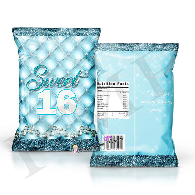 12 Blue Diamonds Treat Bags