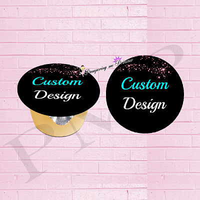 12 Custom Fruit Cup Labels