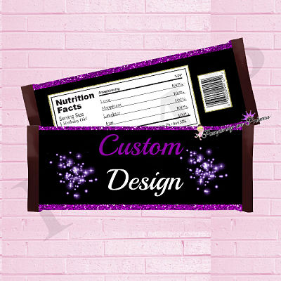 12 Custom Chocolate Bar Wrappers