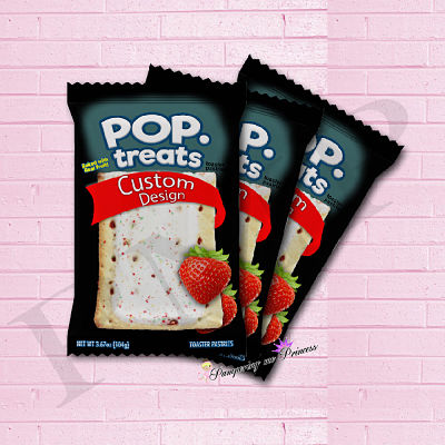 12 Custom Pop Treat Wrappers