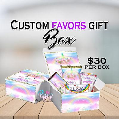 Custom Favors Gift Box