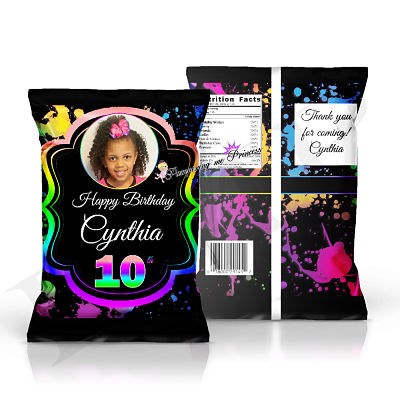12 Glow Party Treat Bags