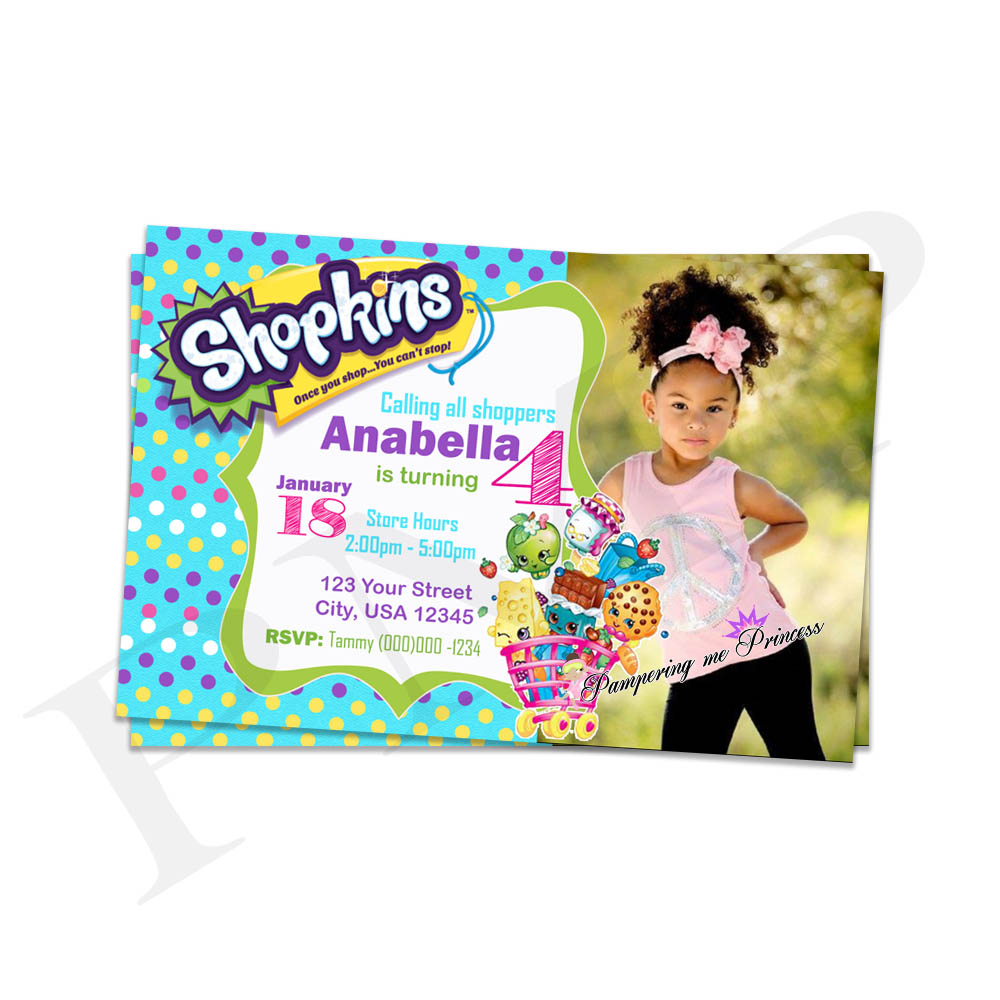 photograph regarding Shopkins Printable Invitations named Shopkins Birthday Bash Printable Invites