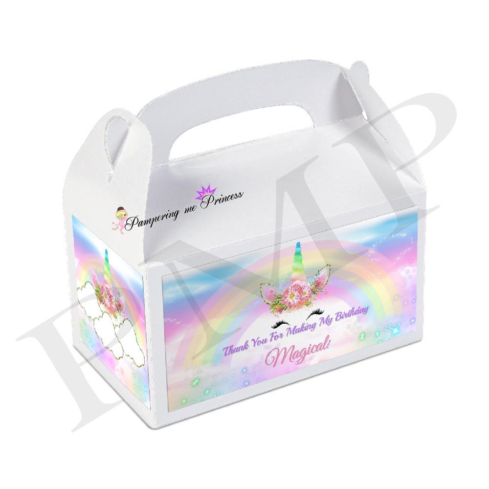 12 Unicorn Box Label