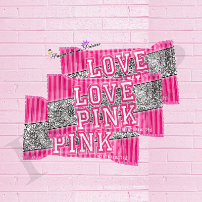Digital Love Pink Treat Wrappers